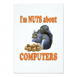 Nuts about Computers 13 Cm X 18 Cm Invitation Card