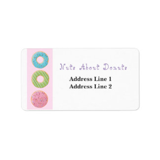 Nuts about Donuts Doughnuts Cute Artwork Sweets Address Label