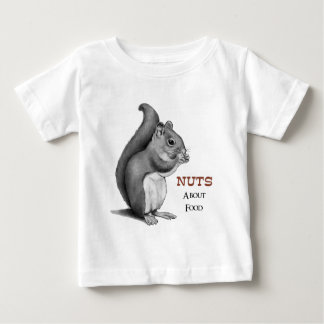 Nuts About Food: Squirrel: Pencil Drawing Baby T-Shirt