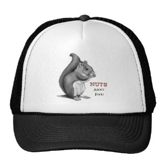 Nuts About Food: Squirrel: Pencil Drawing Cap