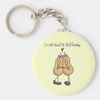 Nuts About My Best Friend T-shirts and Gifts Basic Round Button Key Ring