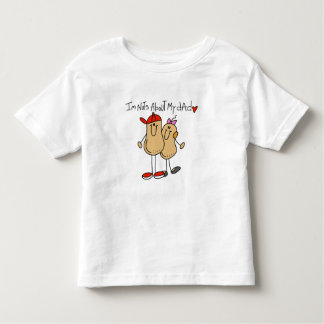 Nuts About My Dad-Girl Toddler T-Shirt
