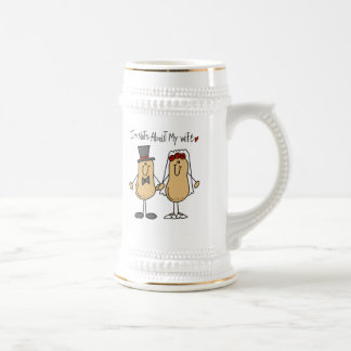Nuts About My Wife T-shirts and Gifts Beer Steins