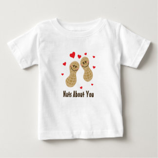 Nuts About You Cute Peanuts Food Pun Humour Unisex Baby T-Shirt