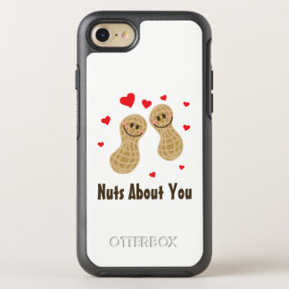 Nuts About You Cute Peanuts Funny Food Pun Humor OtterBox Symmetry iPhone 8/7 Case