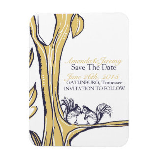 Nuts About You Squirrels Save The Date Rectangular Photo Magnet