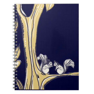 Nuts About You Squirrels Wedding Notebook
