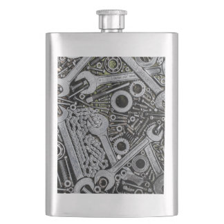 Nuts and Bolts Hip Flask