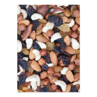Nuts and raisins 13 cm x 18 cm invitation card