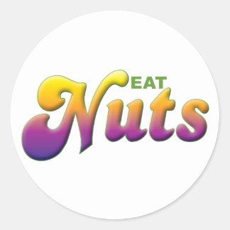 Nuts Eat Round Sticker