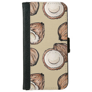 Nuts for Coconut Pattern iPhone 6 Wallet Case