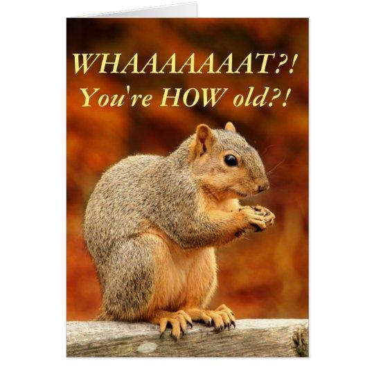 Nuts! Funny Birthday Card