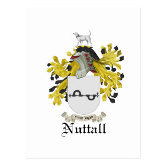 Nuttall Coat Of Arms Post Card