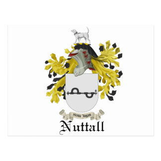 Nuttall Coat Of Arms Postcard