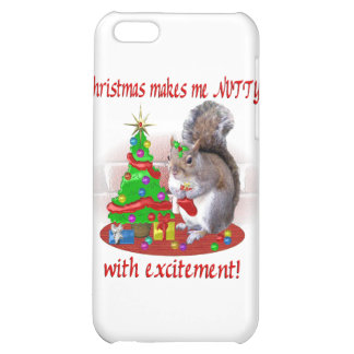 Nutty Christmas Squirrel iPhone 5C Cases