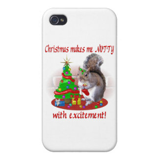 Nutty Christmas Squirrel Case For iPhone 4