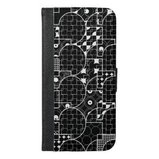 Nutty Line Geometric white pattern on Black
