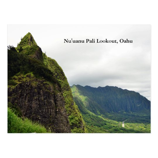 Nu'uanu Pali Lookout Postcrd Postcard