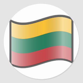 Nuvola Lithuanian, Lithuania Classic Round Sticker
