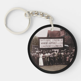 NUWSS Pilgrim Lands End Run to London Single-Sided Round Acrylic Key Ring
