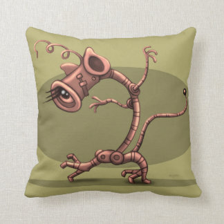 NUX ROBOT ALIEN CARTOON THROW PILLOW 16  X16