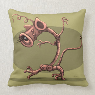 "NUX ROBOT ALIEN CARTOON THROW PILLOW 20"" X 20"""