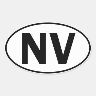 NV Oval Identity Sign Oval Sticker
