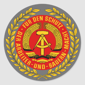 NVA COAT OF ARMS CLASSIC ROUND STICKER