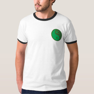 NVN27 navinJOSHI Green Balance YIN YANG Chinese T-Shirt