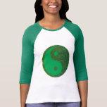 NVN27 navinJOSHI Green Balance YIN YANG Chinese Tee Shirts