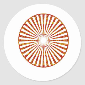 NVN34 navinJOSHI Chakra Mandala SunChakra GIFTS Round Sticker