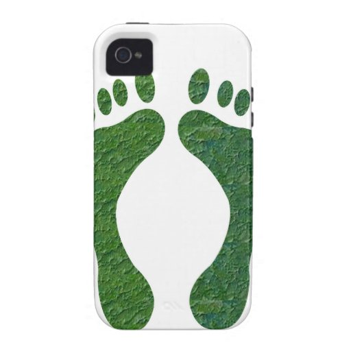 NVN36 navinJOSHI Green FOOTprint EarthDay Warming iPhone 4/4S Case