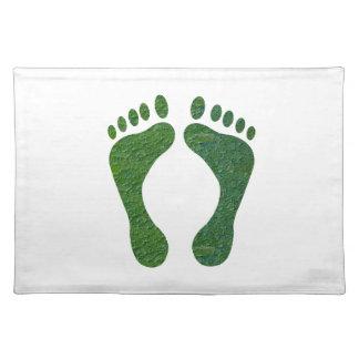 NVN36 navinJOSHI Green FOOTprint EarthDay Warming Place Mats