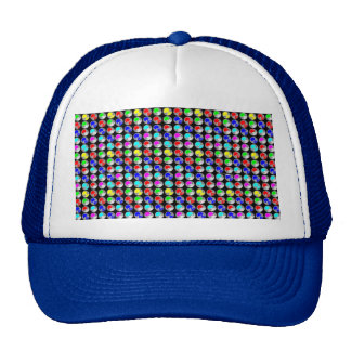 NVN5 NavinJOSHI Art Blue Red COLORFUL Sparkles Hat