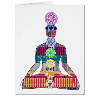NVN723 Chakra Yoga Meditation Masters Practic GIFT Large Greeting Card