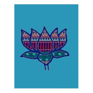 NVN724 Lotus Flower Pure Spiritual Yoga Meditation Postcard