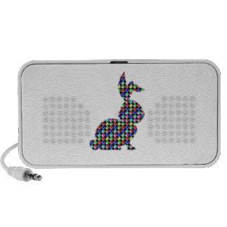 NVN87 Rabbit BUNNY dot painted NavinJOSHI kids zoo iPod Speakers