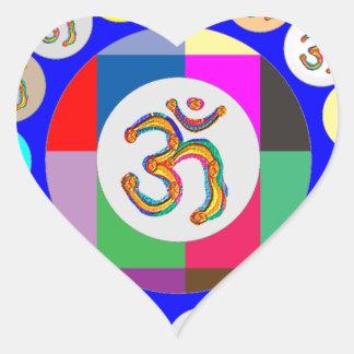 nvn94 OM Mantra Chant Yoga Meditation navinJOSHI 1 Heart Sticker
