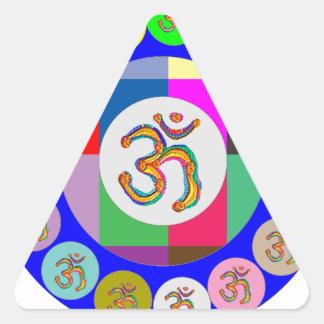 nvn94 OM Mantra Chant Yoga Meditation navinJOSHI 1 Triangle Sticker