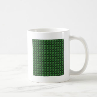 NVN9 NavinJOSHI Green Squared Graphic Art Deco Coffee Mug