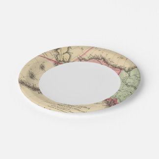 NW America Map by Mitchell Paper Plate