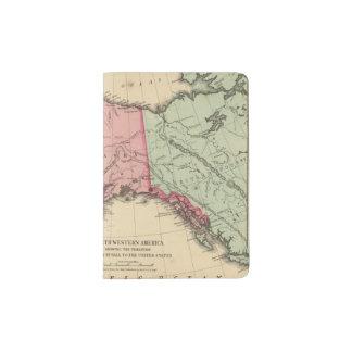 NW America Map by Mitchell Passport Holder