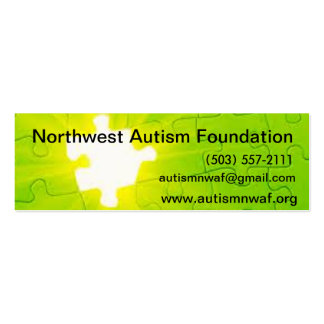 NW Autism Card Pack Of Skinny Business Cards