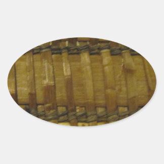 NW Coast woven fibers Oval Sticker