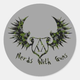 NWG-CAMMO-ARCH-GLOW copy, cammo-trilam-logo-wings Classic Round Sticker
