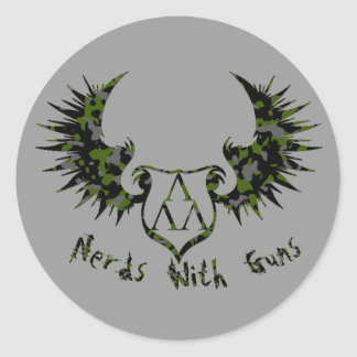 NWG-CAMMO-ARCH-GLOW copy, cammo-trilam-logo-wings Round Sticker