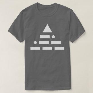 NWO (morse code) pyramid white T-Shirt