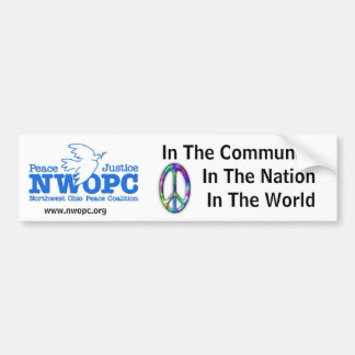 NWOPC Peace In The Community Bumper Sticker