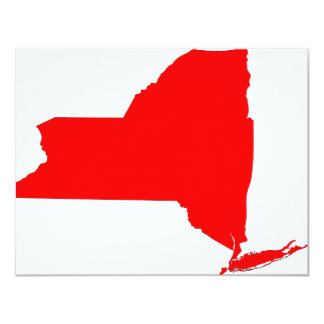 NY a Red State 11 Cm X 14 Cm Invitation Card