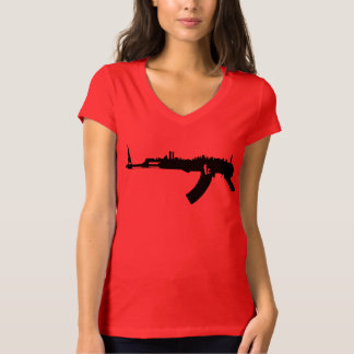 NY AK 47  Womens Bella Vneck T-Shirt